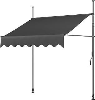 MVPower Toldo Articulado con Armazón Terraza Balcón Toldo Extensible Resistente a Los Rayos UV200 x 120 cm Gris
