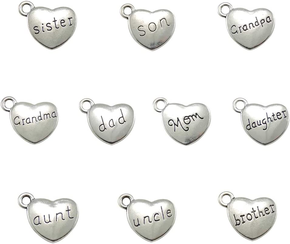 30pcs 3 Inventory cleanup selling sale Set Family Letter Charms DIY Loose for Pendant Beads Max 55% OFF