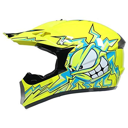 qwert Off Road Helmet, Kids Adult Motocross Helmet Dirt Bike Downhill Mountain Helmet, Motorcycle ATV Scooter Helmet with Goggles Set, DOT Certified (S/M/L/XL)
