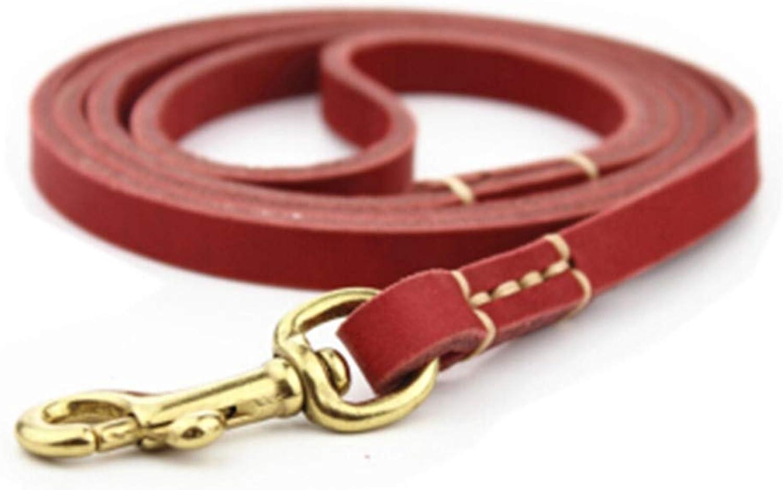 HATHOR23 Pet Leash Dog Chain Dog Leash Small Dog Leash Stretchable Dog pet Leash (color   RED)