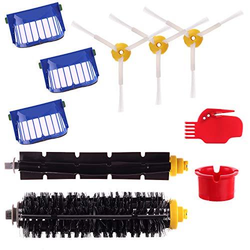 Kit 10 Pièces accessoires Pour IRobot Aspirateur Roomba Série 600 606 610 612 615 620 621 630 631 650 651 660 670 671 675 680 681 695 696 Brosses De R