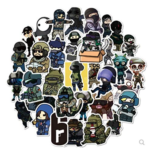 Rainbow Six Luggage Stickers Periphere Wachhunde Alle Borderland Waterproof Sticker Pack 49St