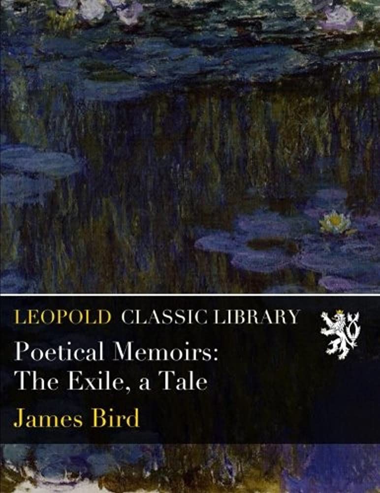 保証金感謝する証書Poetical Memoirs: The Exile, a Tale