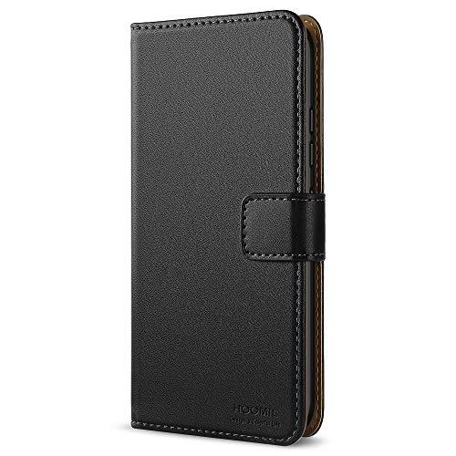 HOOMIL Lenovo K6 Hülle, Handyhülle für Lenovo K6 Tasche Leder Flip Case Brieftasche Etui Handy Schutzhülle - Schwarz (H3129)
