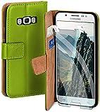 moex Handyhülle für Samsung Galaxy J5 (2016) - Hülle mit Kartenfach, Geldfach & Ständer, Klapphülle, PU Leder Book Hülle & Schutzfolie - Grün