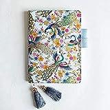 VNAURRY Cuaderno papelería Tela página Diario Phoenix Serie Manual A6 / a5 portátil pequeño Bolso de Mano