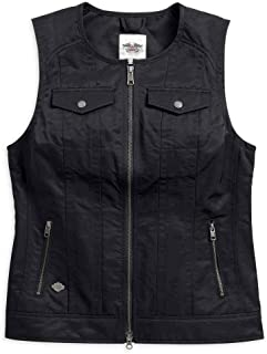 Harley-Davidson Women's Essential Club Casual Zip Vest, Black 98580-17VW (2XL)