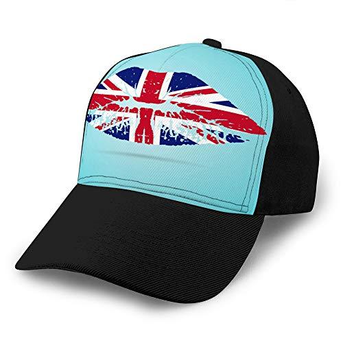 jiilwkie 330 Vintage Denim Cap Hat Verstellbarer Sport Trucker Baseball Hat United Kingdom Flag...