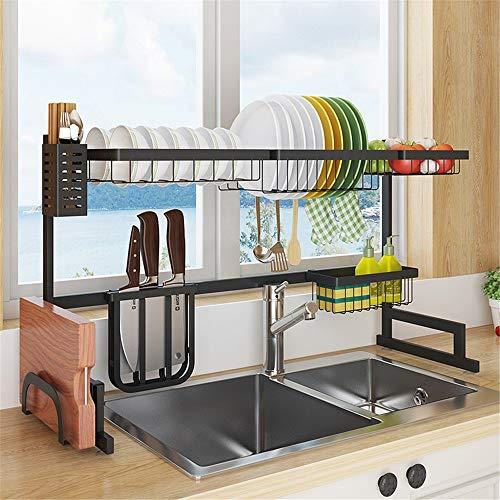 Escurridores de platos de cocina Estante de drenaje for la cocina Suministros Gabinete de almacenamiento en rack de cubiertos moderna Mueble de cocina grande de drenaje ESCURREPLATOS antioxidante exce