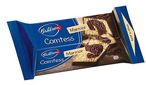 Bahlsen Comtess Marmor, 350 g - saftiger Rührkuchen mit Schokolade -  einzeln verpackter Kuchen für unterwegs oder zum Kaffee - leckerer Kuchensnack mit Kakaoglasur