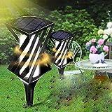 ZGQA-AOQ Éclairage extérieur 2 pcs énergie solaire tueur LED moustiques insectifuge Bug Zapper Jardin d'extérieur Lampe de jardin
