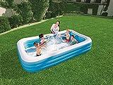 Posten Anker Swimming Pool | Maße 305 x 183 x 46 cm | rechteckiger Aufstellpool | aufblasbarer Swimmingpool | Garten Planschbecken | XXL Plansch Becken für die ganze Familie