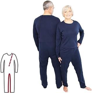 Pflegeoverall für Frauen und Männer relax lang mit Bein- und Rückenreißverschluss Demenz Overall ActivePro M