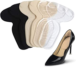Heel Cushion Inserts - Heel Grips & Shoe Pads for Women - Non Slip Gel Back of Heel Liners, Blister Prevention and Protectors for Womens Loose Shoes and High Heels Too Big