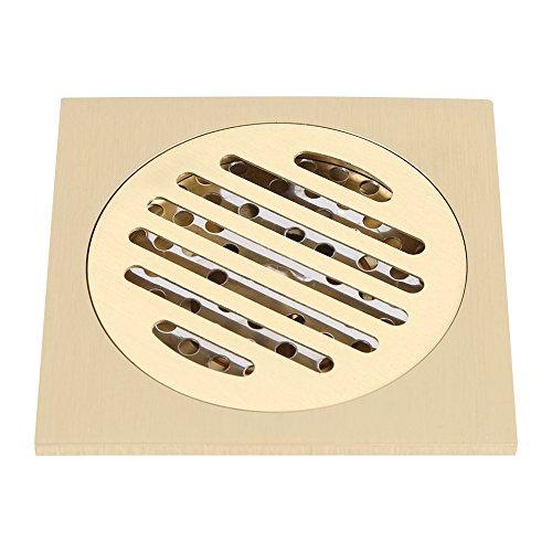 Marvvdy Desagüe de Piso de Cobre Puro Sanitario Antiguo 10 * 10 cm Corto
