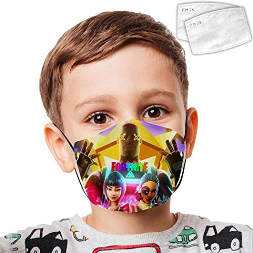 Fueyou 10PC Children Face Bandanas Reusable Mouth Cloth Faces Covering Mouth Protective Kids Bandanas Washable