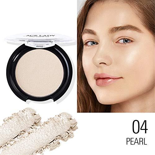 QLQ 4 Paleta de Colores Brillo Mineral Perlas de resaltado Paleta de Maquillaje de la Cara de Contorno Polvo Bronceador Maquillaje Paleta Cosméticos
