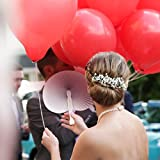 WeddingTree ® 60 x Handfächer Papier weiß faltbar – DIY- und Deko-Spaß für Groß und Klein – Gast-Geschenk Hochzeit Party Flamenco Bauch-Tanz - 6