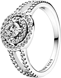 PANDORA Sparkling Double Halo 925 Sterling Silver Ring