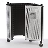 LyxPro VRI-10 Vocal Sound Absorbing Shield For Studio Home And Office Recording Acoustic Isolation Microphone Foam Panel Shield ? Portable And Adjustable Stand Mount or Desktop Use