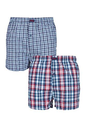 Herren 2 Paar Jeep Boxer Shorts 100% Baumwolle - Multi XL