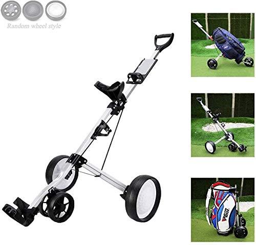 Carrello Push Golf Carrello Push Golf Carrello Pieghevole a 4 Ruote per Mazze da Golf Carrelli da Golf con Apertura e Chiusura Rapida Uptodate
