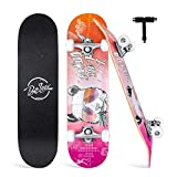 "BELEEV Skateboards for Beginners, 31""x8"" Complete Skateboard for Kids Teens & Adults, 7"
