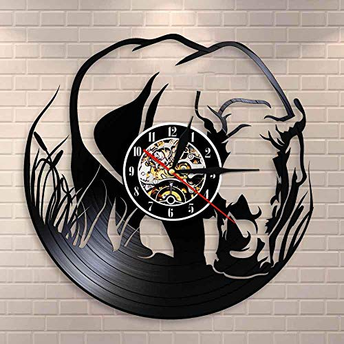 wtnhz LED-vinyl record wall clock Vinyl Wall Clock Vinyl Record Wall Clock LED Light 12' Living Room, Kitchen, Unique Gifts Handmade Home Wall Decor