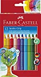 Faber-Castell 110912 - Farbstifte Jumbo GRIP, 12er