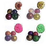 HuangHuang Bolas de color de descompresión, 12 bolas de alivio de presión, adecuadas para niños y adultos, bola peristáltica antiestrés avanzada con gotas de agua, alivia la tensión y la ansiedad