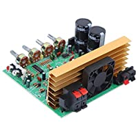 【𝐂𝐡𝐫𝐢𝐬𝐭𝐦𝐚𝐬 𝐆𝐢𝐟𝐭】パワーアンプボード、小型ポテンショメータモジュール、2.1チャンネル費用効果の高い300W持ち運びに便利なDIYエントリー用スピーカー