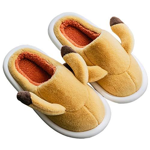 DFGGE Pantuflas con Alas Mujer Hombre Zapatillas de Estar por Casa Unisex Lindo Suave Zapatos Invierno Niñas Niños Algodón Calentar...