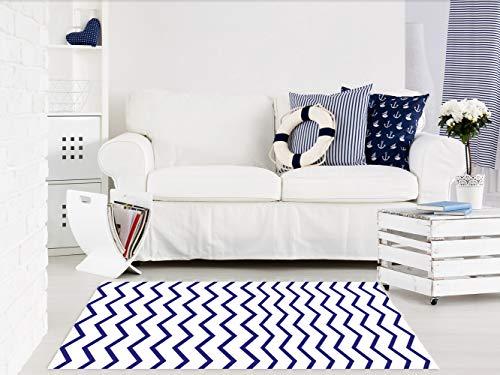 Alfombra Infantil Motivo Marinero PVC   95 cm x 120 cm   Moqueta PVC   Suelo vinilico   Decoración del Hogar   Diseño Moderno, Original, Creativos