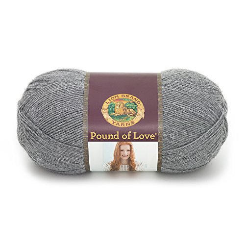 Lion Brand Yarn 550-150 Pound of Love Yarn, One Size, Oxford Grey