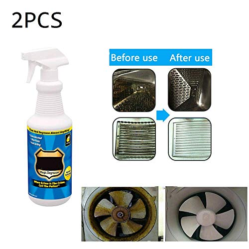MRLZLT 2Pcs Grease Spray Fast-Acting Cleaning Agent,30ml Magic Degreaser Cleaner Spray Kitchen Bathroom Home Dilute Dirt & Oil