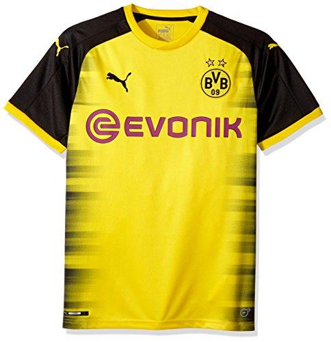 Puma BVB - Camiseta réplica para hombre con logo de patrocinador, color amarillo y negro, talla grande