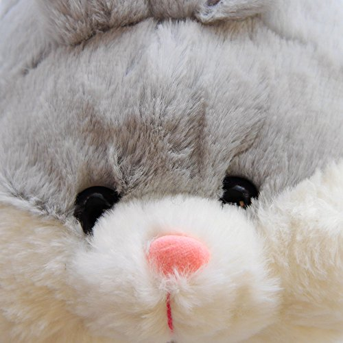 Product Image 6: Caramella Bubble Classic Bunny Slippers Cute Plush Animal Rabbit Slippers Christmas Slippers for Women Grey