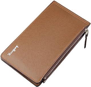 Strimm Slim Men Leather Credit Card Case Organizer Zipper Wallet Money Purse Holder + 2 Zipper Pockets For Cash and Cellphone
