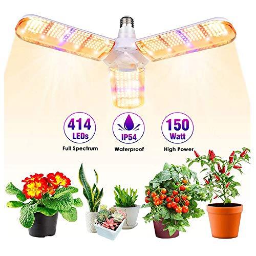 CPDZ Jardin LED 40W LED Pliable Usine Lampe de Remplissage de Trois Feuilles Promouvoir la Croissance Super Dissipation de la Chaleur pour Les Jeunes Plants et Plantes Grasses