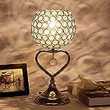 Zytyek Lámpara de mesa Cama Dormitorio tabla creativa de la lámpara europea de estar Sala de Estudio Tabla alto grado de tabla cristalina caliente de la lámpara romántica de la boda del regalo de boda