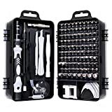 Gocheer 115 en 1 mini set tournevis precision kit tools petit boite tournevis torx informatique demontage pc portable pour macbook,iphone,réparation,lunettes,bricolage,montre,smartphone (noir)