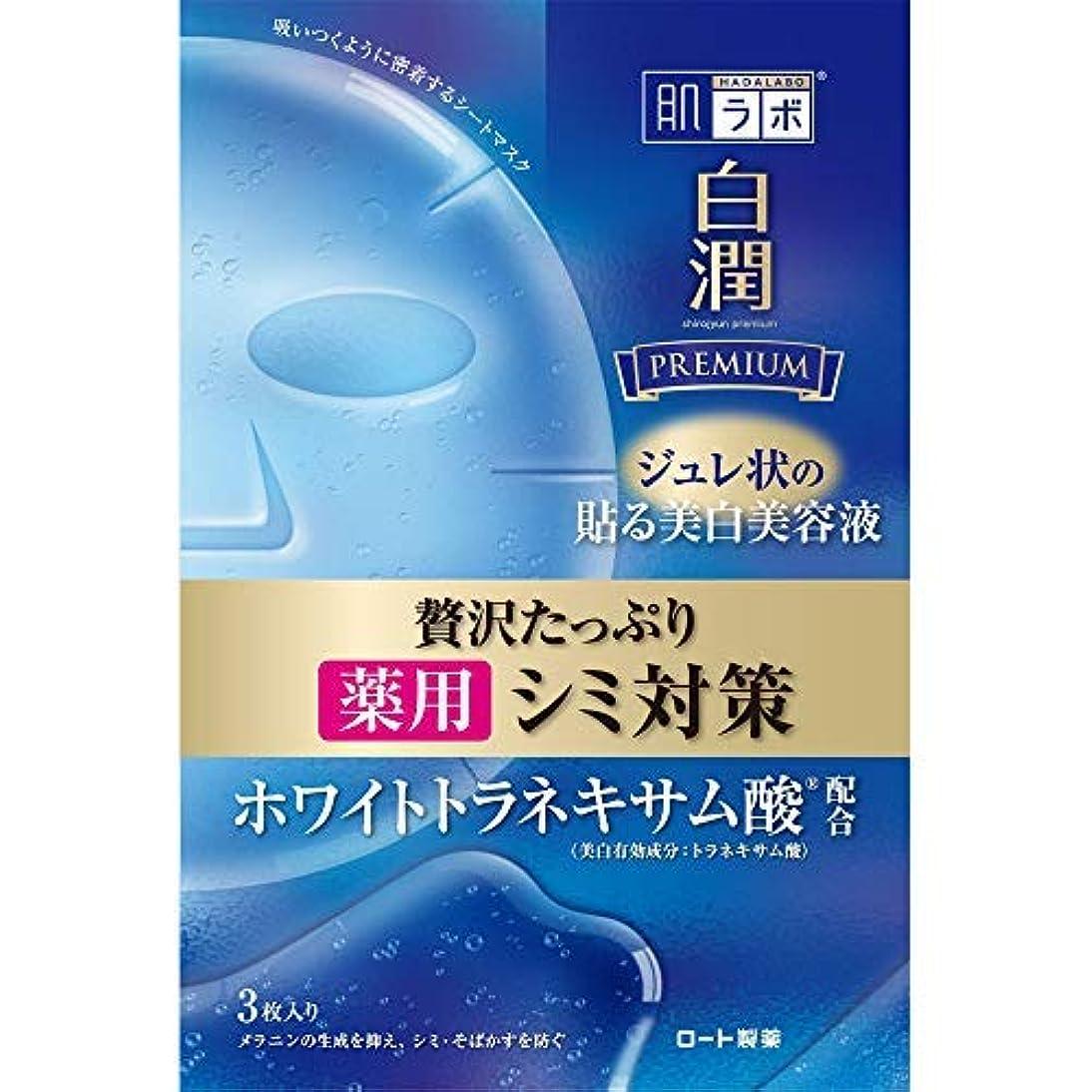 運動する後者発生する肌ラボ 白潤プレミアム 薬用浸透美白ジュレマスク × 4個セット