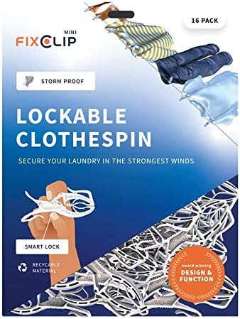 FIXCLIP Mini 16-Pack - Probably Ranking TOP10 Clothespin Worlds Max 78% OFF Strongest The