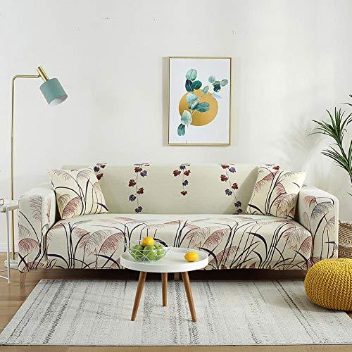 Funda elástica con Funda de sofá 3 plazas y 4 plazas, Funda de sofá elástica para Sala de Estar, Funda de sofá elástica, Fundas de sofá en Forma de L de una Sola sección, 2 Piezas