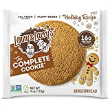 Lenny & Larry s The Complete Cookie, Gingerbread, Soft Baked, 16g Plant Protein, Vegan, Non-GMO, 4 Ounce Cookie (Pack of 12)