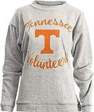 Press Box Womens Tennessee Volunteers Vols UT Sweatshirt Comfy Terry L/S Crew (X-Large)