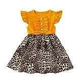 Comie - Falda de tul, falda para niña, falda de bebé, falda de tul, falda de ballet, falda de ballet, falda de ballet, manga corta, vestido de baile, tutú amarillo 12 meses