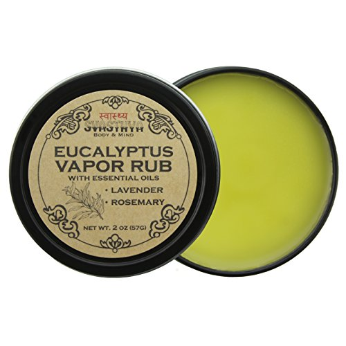 Eucalyptus Vapor Rub with Lavender and Rosemary Essential Oil, All Natural Relief for Cold, Cough, Congestion, and Allergy Symptoms