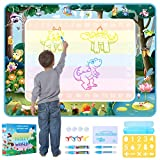 Aqua Magic Doodle Mat for Kids Large Insect World Water Drawing Coloring Mats for 2, 3, 4, 5, 6 Years Old Kids,Toddlers, Boys, Girls