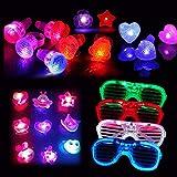 Dsaren Leuchtendes Spielzeug, 20 Pcs uper Helle LED Party Favors Einschließlich 12 Blinkend Ringe,...
